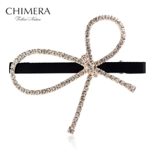 Bling Hair Clip Bobby Pins Hairclips Bow Hair Accessories for Women Fashion Crystal Rhinestone Hairpin Barrette Duckbill Clip