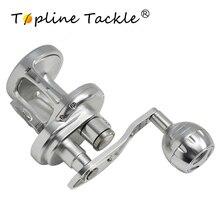 TopLine Tackle Trolling Reel Aluminum CNC Machined 100-300Series Fishing Right Hand Max Drag 25-30kg TA500 Jigging