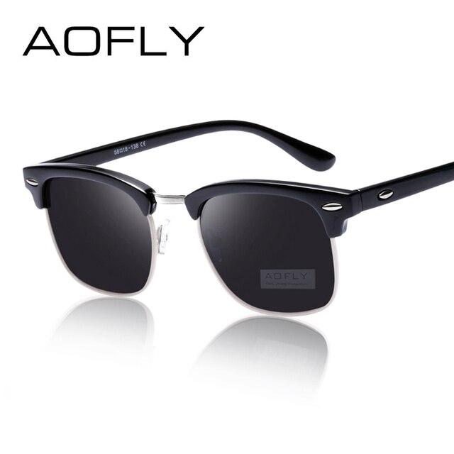 30d253b05e16f AOFLY CLÁSICO Medio metal Gafas de sol Hombres y mujeres Diseñador de marca  Gafas G15 Revestimiento