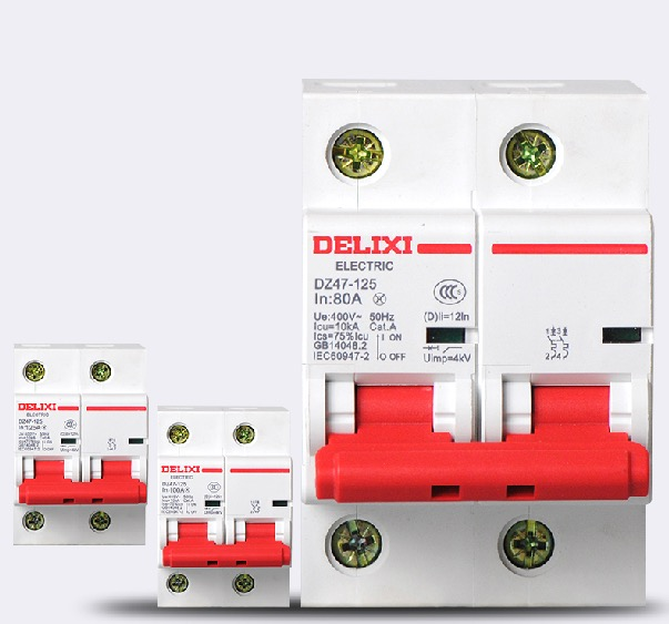 Genuine delixi Micro Circuit Breaker Air Switch overcurrent protection Air Breaker 2P 125A delixi switch wcs1600 hall current sensors measuring 100a short circuit overcurrent protection module