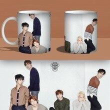 VIXX AUF UND AUF Farbe Changeing Schalen-becher-druck Anime Kaffeetasse Mann Morgen Tee Tassen Mit Geschenk-box