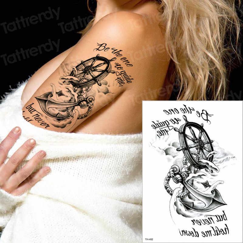 fd8c1a2b7 temporary tattoos pirate tattoo anchor compass tattoo long lasting tatoo  sticker words 3d boys tattoo men