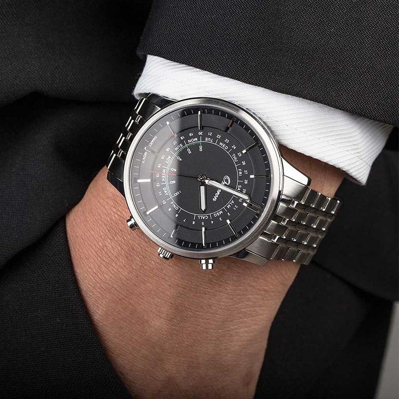 High Quality Man Swimming  Stainless Steel Case Belt Smart Watch Phone Watch Saat Hour Clock With 50meters Waterproof Anti Lost