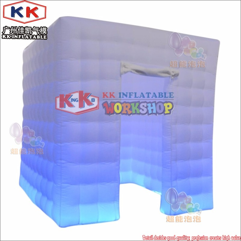 Shop For Cheap 2.5x2.5 Mts Cube Led Inflatable Photo Booth Enclosure Made In Guangzhou Kk Inflatable Factory For Sale