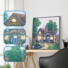 5D DIY Special Shaped Diamond Painting Partial Drill Cross Stitch Kits Crystal Rhinestone Of Picture Arts Craft Diamant Painting