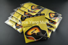 10 Sets of 60XL(010-048) Stainless Steel&Phosphor Bronze Strings Acoustic Guitar Strings 1st-6th Strings Wholesale