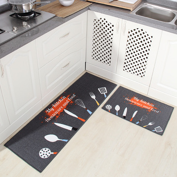 [byetee] Kitchen Mat Long Water Absorbent Non-slip Mat Door Mat Oil-proof Foot Cushion Bathroom Cushion Bedroom Bed Mat