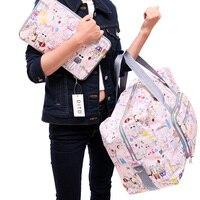 2021 neue Klapp Reisetasche Große Kapazität Wasserdichte Taschen Tragbare frauen Tote Tasche Reisetaschen Frauen