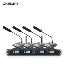 Professional Microphone System 8000GT UHF Channel Professional Dynamic Microphone 4 Conference Microphone Gooseneck Microphone oupushi conference system 8 channel gooseneck uhf ppl wireless conference table microphone sound quality ceiling speaker