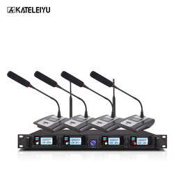 Professional Microphone System 8000GT UHF Channel Professional Dynamic Microphone 4 Conference Microphone Gooseneck Microphone