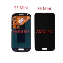 Super AMOLED LCD Para SAMSUNG Galaxy S5 Mini G800F S3 Mini i8190 LCD Screen Display Toque Digitador Assembléia LCD Full(China)