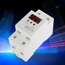 Voltage Monitor Relay 230V AC Automatic Reconnect Under Voltage Protector Undervoltage Relay 2P/32A Digital Voltage Relay цена