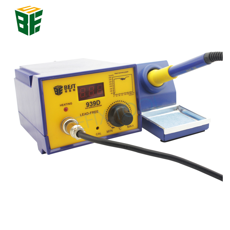 BST-939D Anti-static 60W Constant Temperature Intelligent SMD Rework Station Lead Free Electronic Soldering Iron a bf 937 intelligent anti static lead free welding station with soldering iron 220v 70w