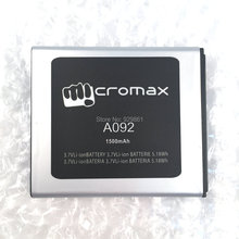 Micromax A092 Batterie 3.7 V 1500 mAh Remplacement Li-ion Batterie Pour Micromax A092 Téléphone livraison gratuite + Code de Piste