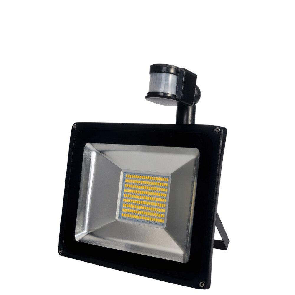 Pir Led Flood Light Motion Sensor Outdoor Lighting 100w Waterproof Ip65 Ac 110v 189led 5600lm Induction