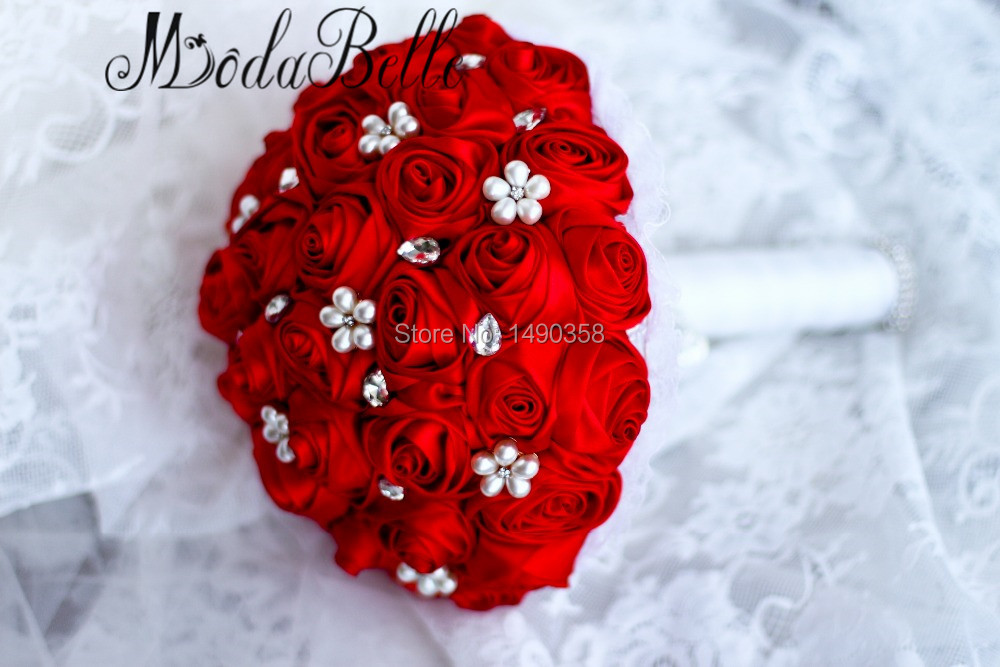 Free-shipping-Red-Rose-flower-bridal-brooch-bouquet-Wedding-Bride-s-Jewelry-crystal-Pearl-Rhinestone-Cloth (3)