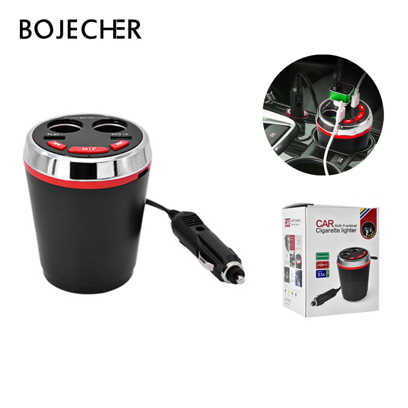 Auto car Bluetooth Music MP3 Player Hands Free speaker with Cigarette Lighter Dual USB Adapter Splitter bluetooth car kit bluetooth