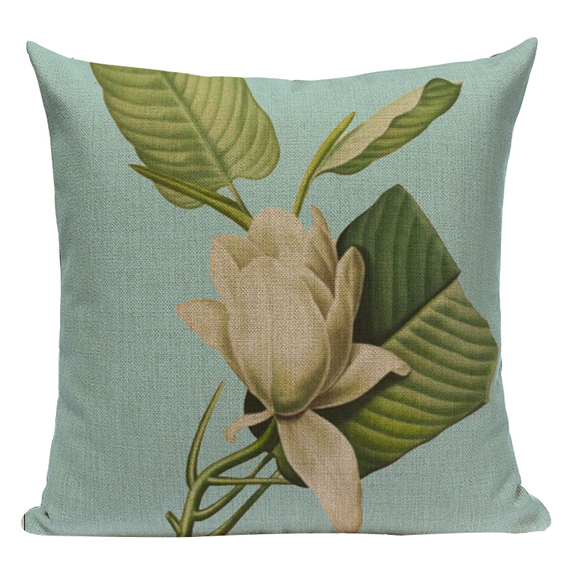 Gift Cushion Cover Nordic style Cotton Linen Leaf Plaid Home Fundas 45Cmx45Cm Square Lounger For The Beach Printed Cushion Cover