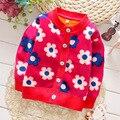 Apuramento Outono Inverno Dos Miúdos Caráter Padrão Blusas Para As Meninas/Meninos Do Bebê Meninas Camisola Casaco de Malha Crianças Roupas C-1562