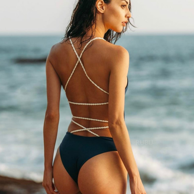 Badpak 2019 Sexy One piece Swimsuit May Women Fused Swimwear Female Bather Thong Backless Monokini Beach