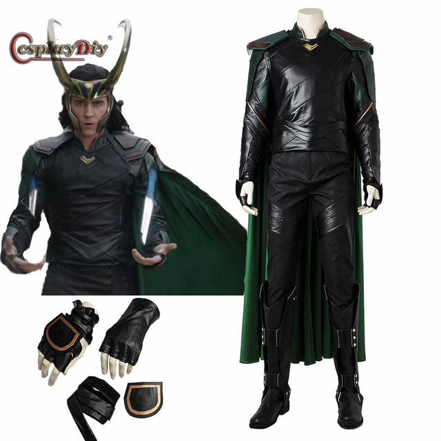 Cosplaydiy Superher THOR:Ragnarok Loki Cosplay Costume