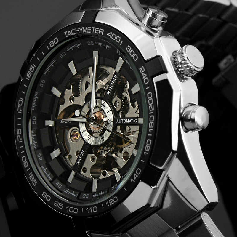 Winner brand Luminous Clock Men Automatic Mechanical Watch Skeleton Military Relogio Male Montre men watches Relojes hombre 2016