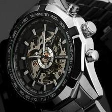 Победитель марка Световой Часы Мужчины Автоматические Механические Часы Скелет Военная Relogio Мужской Montre мужчины часы Relojes hombre 2016