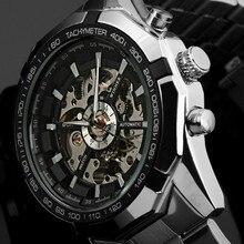 Winner marca Reloj Luminoso Hombres Reloj Mecánico Automático Esquelético Montre Relogio Masculino hombres relojes Relojes hombre Militar 2016