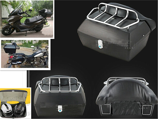 Beminnelijk Mat Zwart Kofferbak Staart Doos Bagage Met Top Rack Rugleuning Voor Honda Rebel Cmx 250 Ca125 250 450 Gold Wing Gl1500 Gl1800 Shadow Supplement The Vital Energy And Yin
