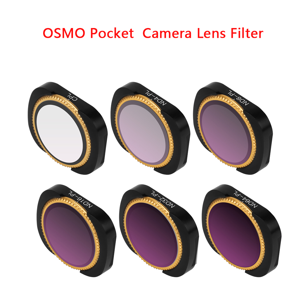 Image 3 - New Optional Camera Lens Filter Kit OSMO POCKET ND4/8/16/32/64 PL CPL UV Filters Set for DJI OSMO POCKET-in Sports Camcorder Cases from Consumer Electronics