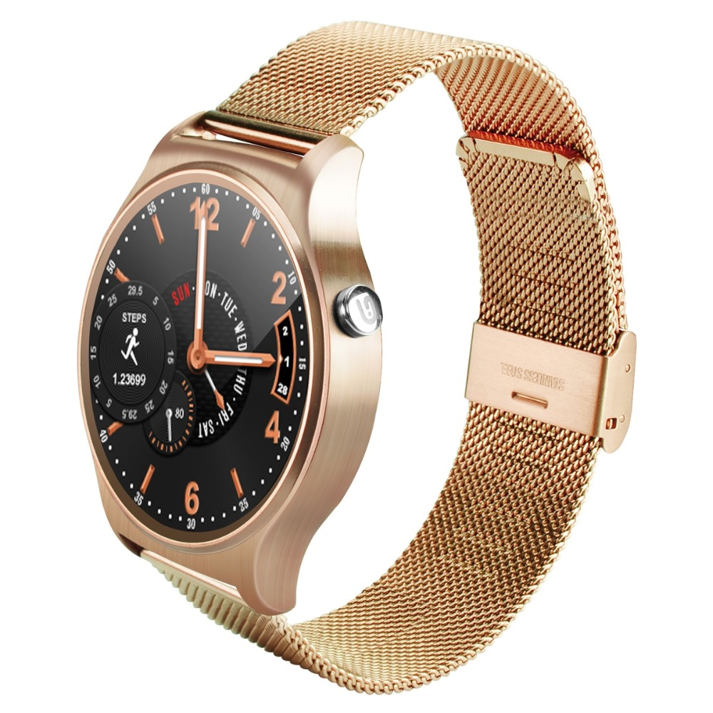 Betreasure GW01 Smart Watch Meta Round Screen WristWatch Heart Rate Monitor Bluetooth SmartWatch For Android IOS Phone smart sm407 01 c35