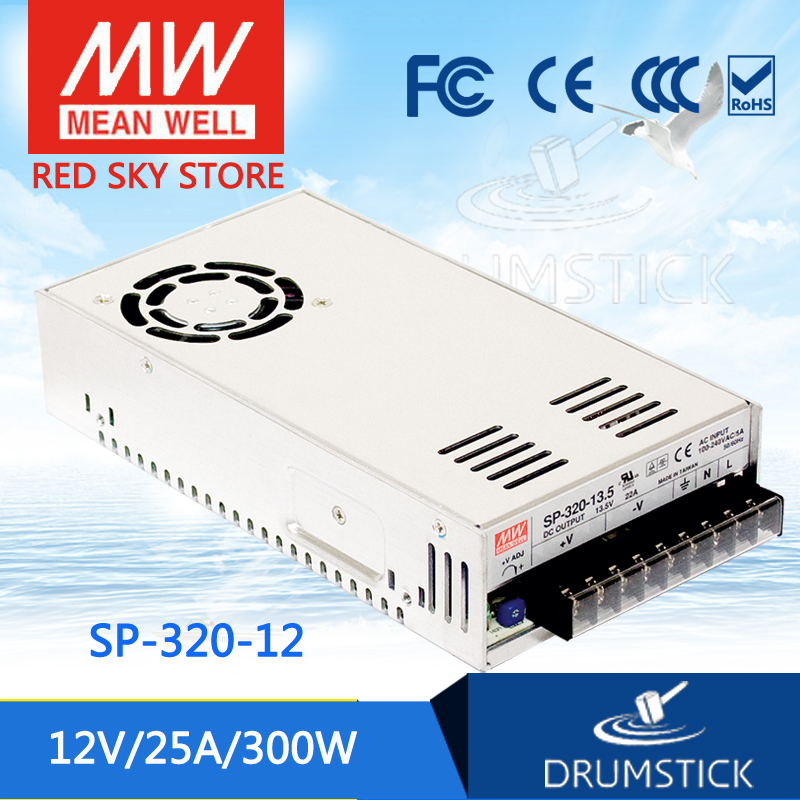 (12.12)MEAN WELL SP-320-12 12V 25A meanwell SP-320 12V 300W Single Output with PFC Function Power Supply aaa mean well original sp 320 24 24v 13a meanwell sp 320 24v 312w single output with pfc function power supply