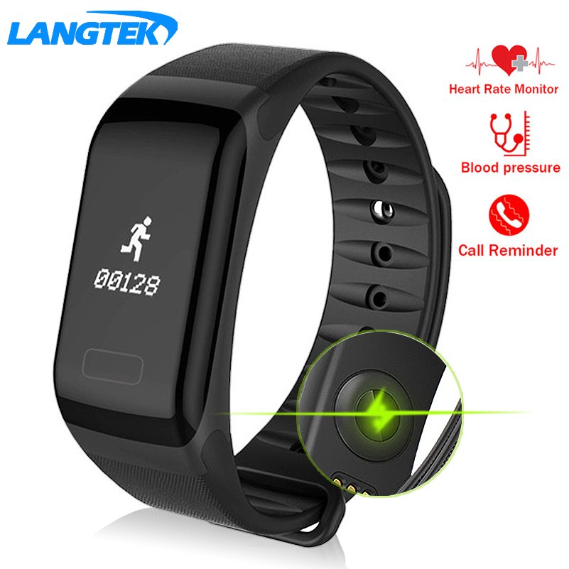 LANGTEK Smart Wristbands Fitness Tracker Wristband Heart Rate Monitor SmartBand Blood Pressure With Pedometer Bracelet