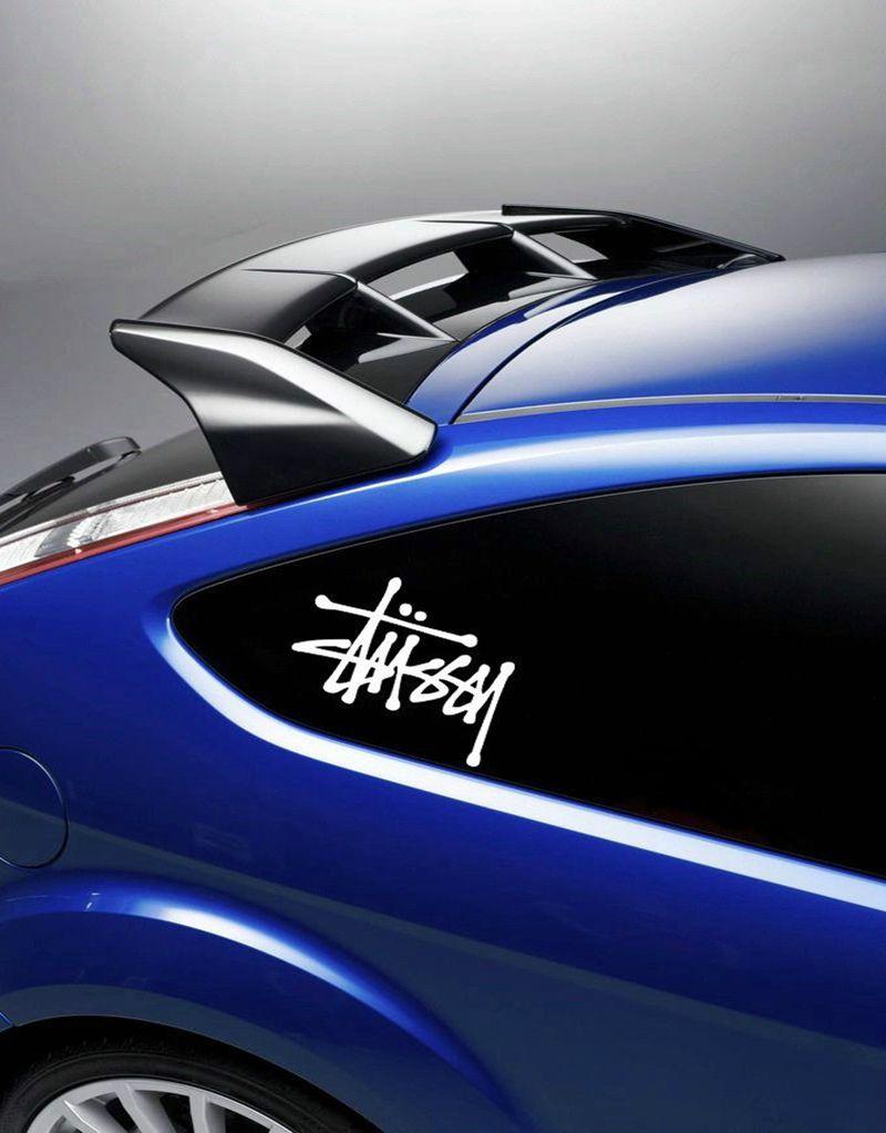 Blue car sticker design - Free Shipping 2pcs Set Car Laptop Stickers Decals Window Surf Van Vinyl