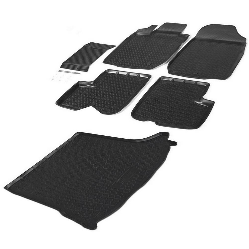 Set mats interior and trunk Rival for Ford Mondeo V sedan 2015-n. a... polyurethane, with mounting hardware, jumper, 6 pcs, K1180 видеорегистратор в штатное место redpower dvr fod3 n для ford mondeo v 2014