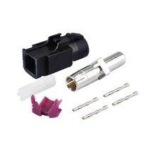 RF Koaksiyel Konnektör Araba HSD Fakra Bir Waterblue Sıkma Dişi Jack 90 derece Dik Açı Konektörü Kablo Dacar 535 4 kutuplu