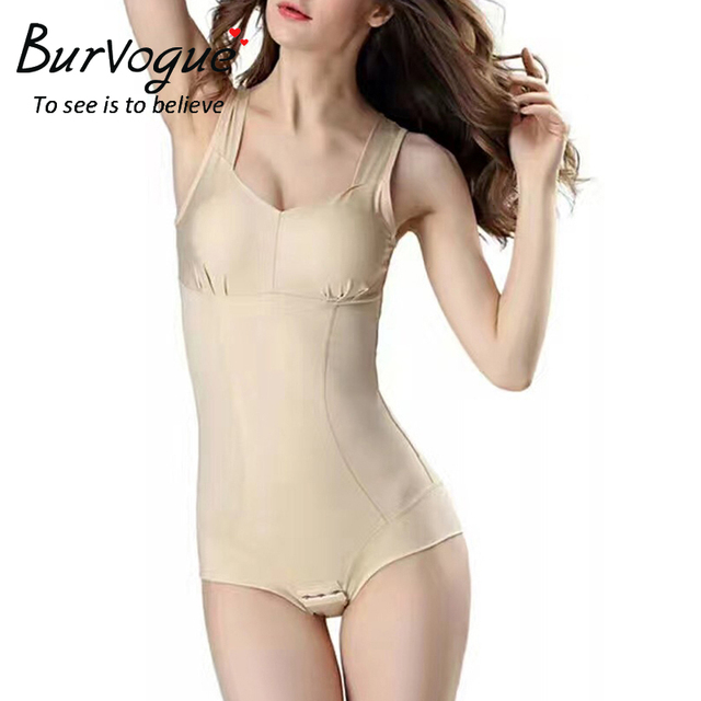 a3486b0172771 Burvogue Women Slimming Shapewear waist trainer Butt Lifter Body Shaper  Seamless Bodysuit Shaper Sexy Underwear Body Shaper