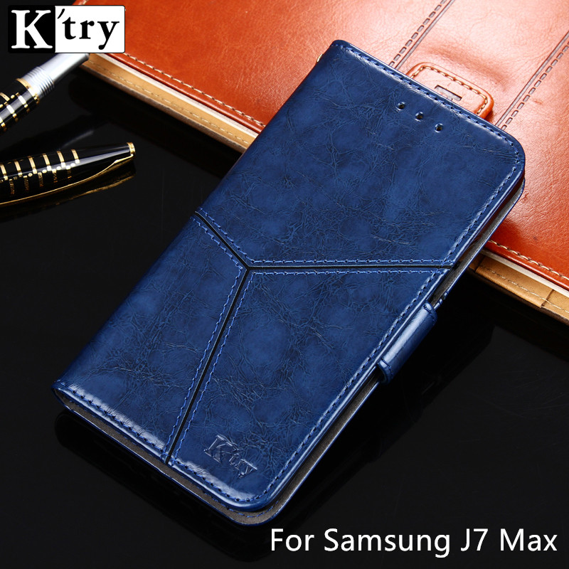 For Samsung J7 Max Case K'try Pu leather +Soft Silicon Wallet Flip Cover Capa For Samsung Galaxy J7 Max Phone Case Fundas