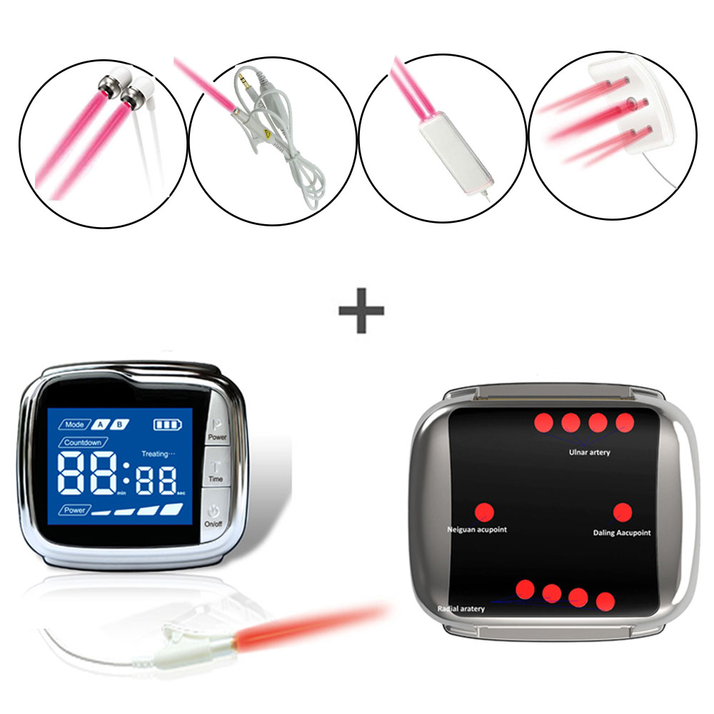 全套650nm pain relief laser medical watch