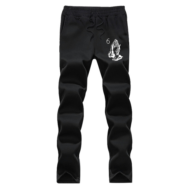 Drake Prayer autumn2016  sweat pants men brand clohting fashion fleece casual pants fitness male pants loose pants