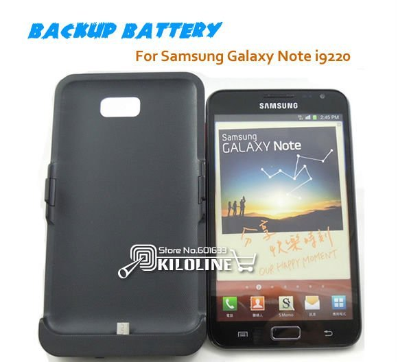 3200mAh Backup battery External Battery power bank Charger Case for Samsung Galaxy Note i9220/N7000-Free Shipping