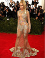 Новое Прибытие Горячие Sexy Русалка Вечерние Платья See Through Кристалл Длинным Рукавом Вечерние Платья Beyonce Met Gala Платье Выпускного Вечера