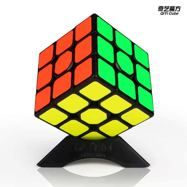 New QiYi Sail W 3x3x3 Speed Magic Cube Black Professional Puzzle Cubes Educational Toys For Children 5