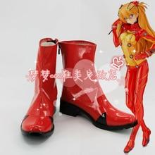 EVA Soryu Asuka Langley/гоночная обувь; обувь для костюмированной вечеринки в стиле аниме; сапоги на заказ