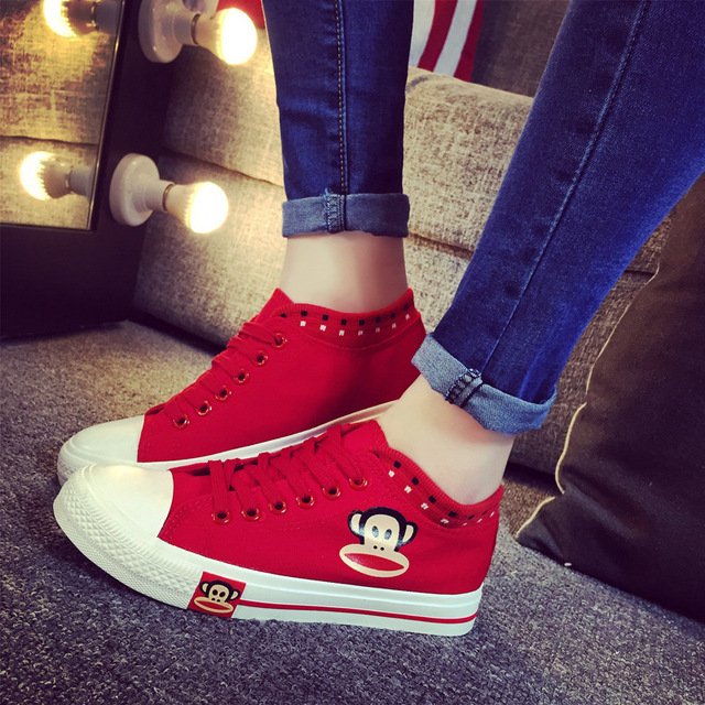 Cartoon Casual shoes women feminino hot fashion canvas shoes woman zapatos mujer fashion women shoes