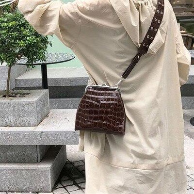 Donne Modello Progettista Borse brown Bolsa A Signore Vintage Lusso Di Tipo La Delle Coccodrillo Il Nero Borsette Femmina Cuoio Per Sacchetti Tracolla Del Mano zw5qI