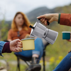 Image 4 - 50/150/300/450/600ML alüminyum Percolator kahve makinesi Pot açık sofra ev ofis üreticisi açık sofra