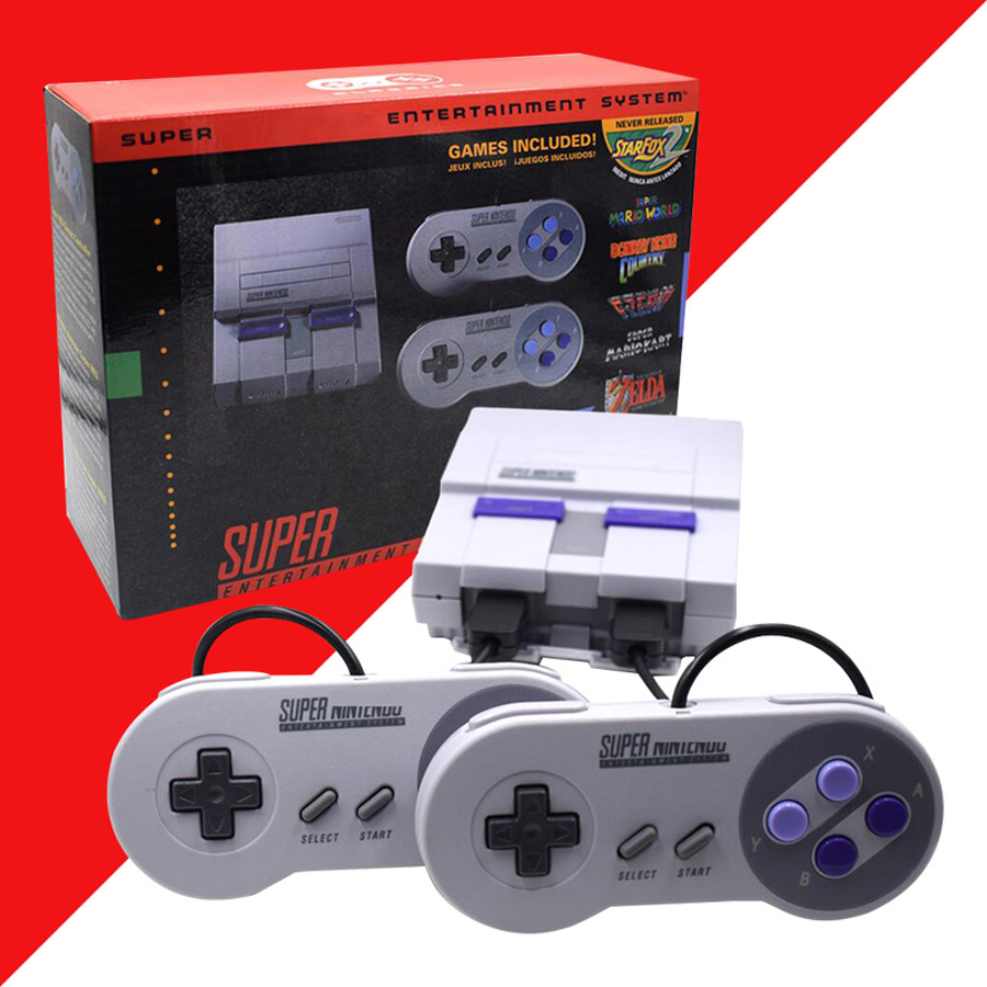 Super HD HDMI Output SNES Retro Classic Handheld Video Game Player TV Mini Game Console Built-in 21 Games + 2 Gamepad ControllerSuper HD HDMI Output SNES Retro Classic Handheld Video Game Player TV Mini Game Console Built-in 21 Games + 2 Gamepad Controller