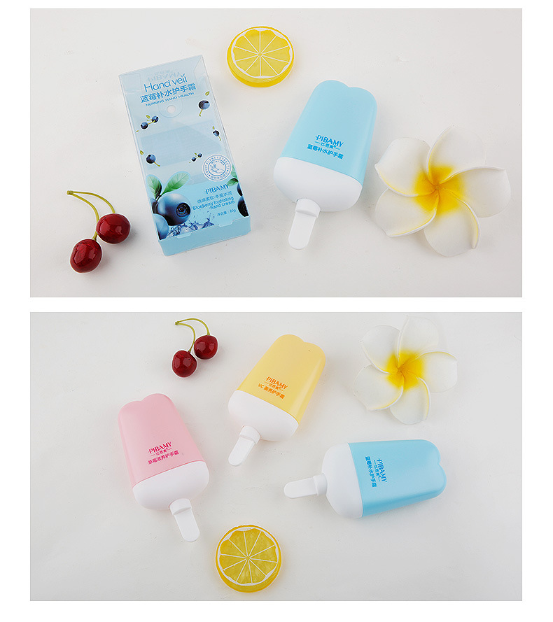 3pcs/lot Fruit Extract Beauty Ice Cream Shape Hand Cream Anti-wrinkle Moisturizin Nourishing Soft Delicate Hand Care Hand Creams