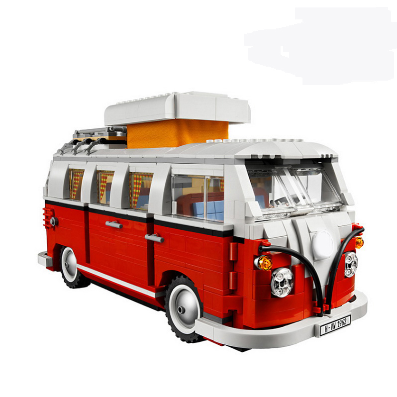 YL306 Technic Classic Volkswagen T1 Camper Van 10220 Building Blocks Model Toys For Children car Like Lepin 21001 timex womens camper classic green